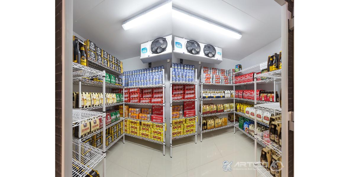 Câmara frigorífica para posto de gasolina