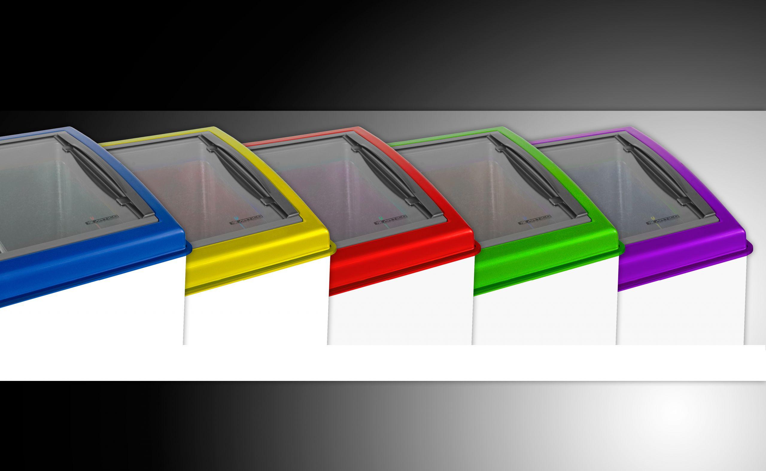 Congeladores coloridos expositores